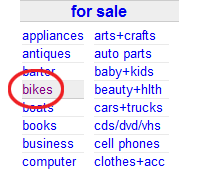bicycles craigslist