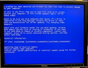 Blue Screen of Death - BSOD