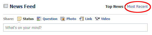Click on the Most Recent Facebook Link