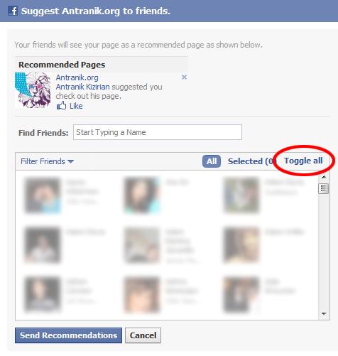 Invite All Friends In Facebook