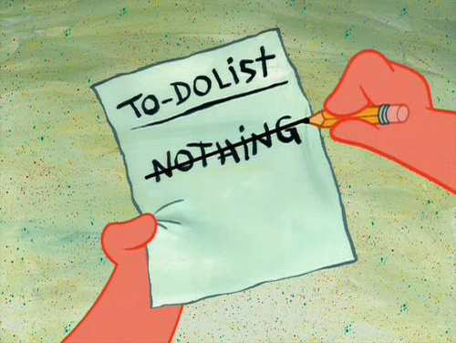 patrick starr's to do list