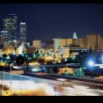 los angeles downtonw freeway time lapse photography