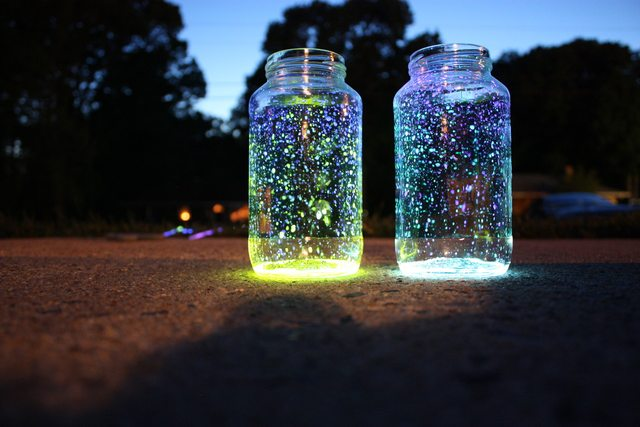 fireflys in jar