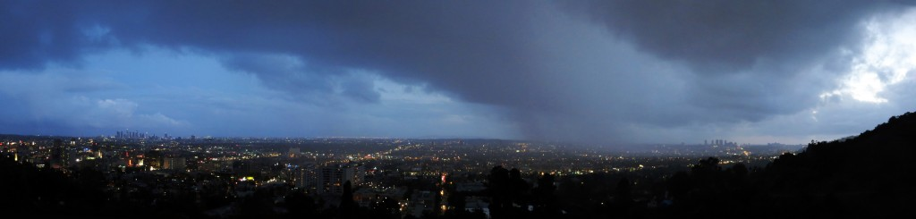 Capturing a storm that came from the ocean and currently passing over West LA.