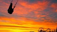 Antranik swinging on the Flying Rings at Old Muscle Beach, Santa Monica, CA.