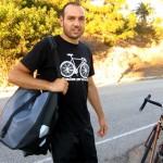 antranik with pannier bags