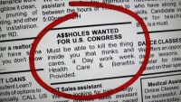 Assholes Wanted for Congress