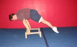 Planche leans on parallettes