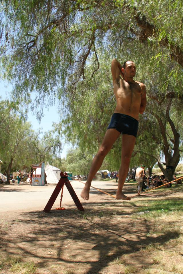 In June 2013, this was the first time I decided to do this stretch... ON THE SLACKLINE!