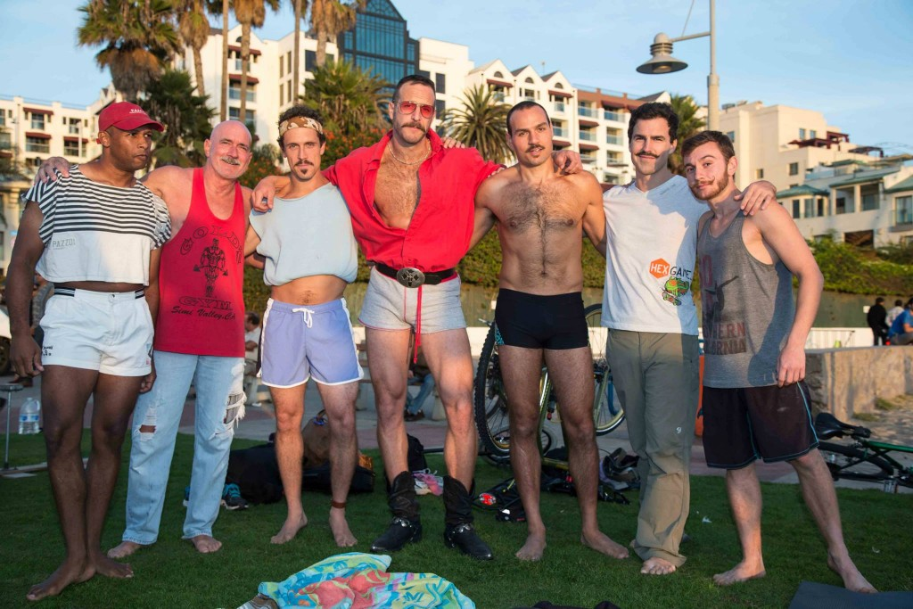 One of the many fun Sundays at OMB... this one was 80's Mustache Movember. Soop is the one next to me in the red.