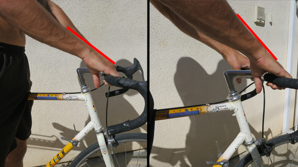 antranik lightly gripping handlebars showing good wrist position
