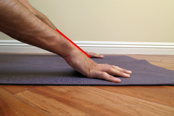 antranik showing lifting heel of the hand gives neutral wrist position
