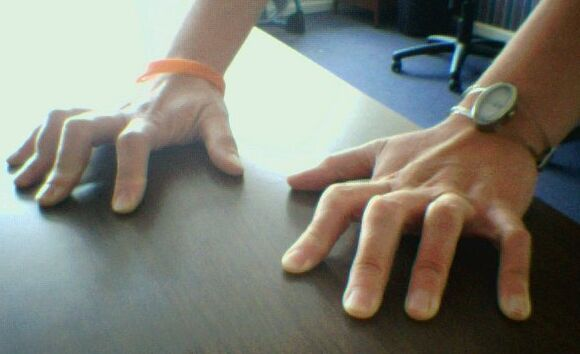 cambered fingers second knuckle up