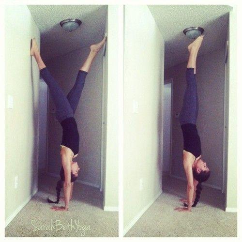 hallway handstand
