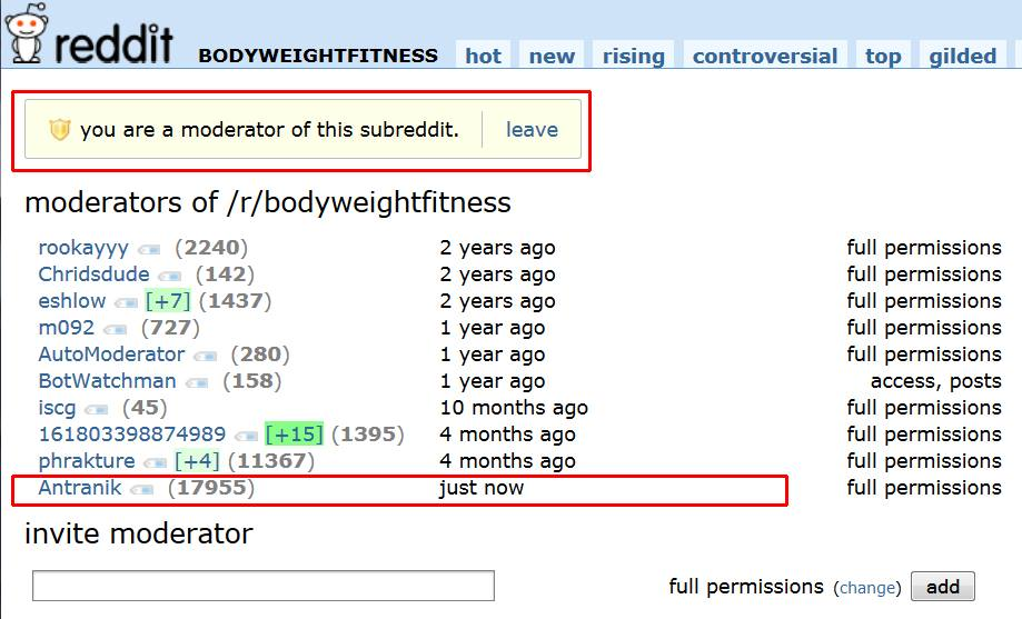 I am also a mod of /r/yoga and /r/flexibility, but /r/bwf is my real love of a sub!