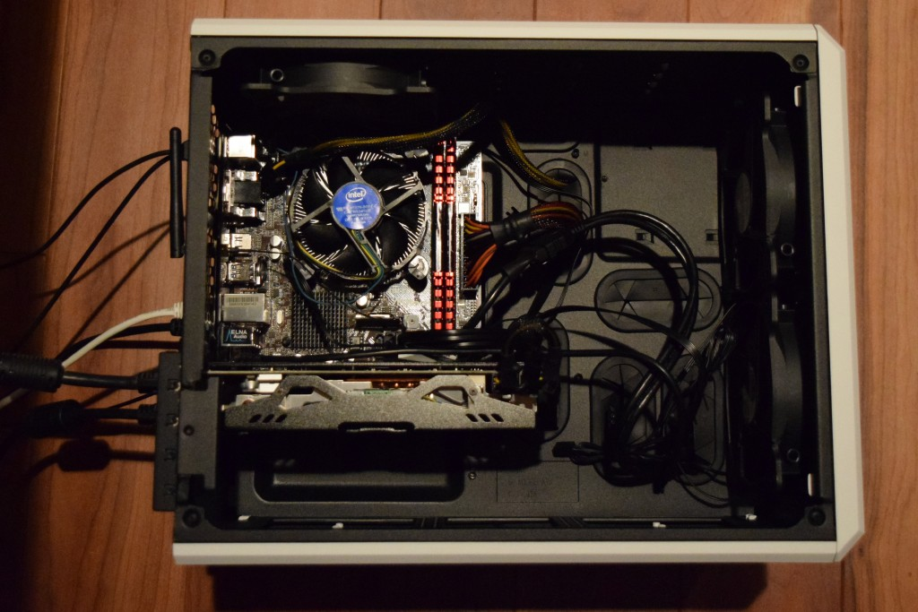 asrock mobo with radeon r9 380 and corsair vengeance RAM in air 240 case