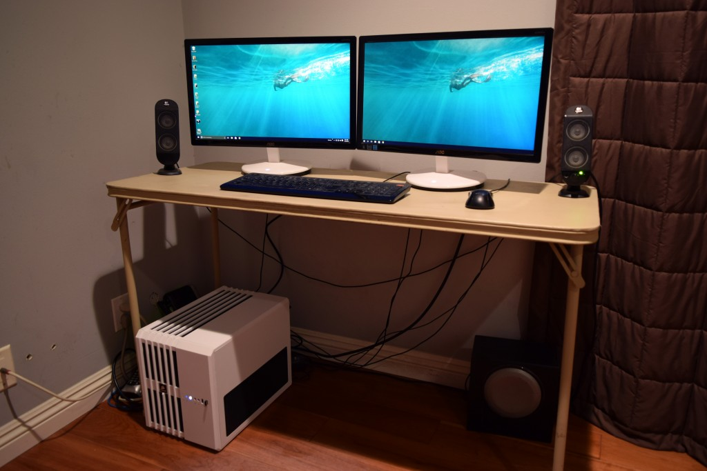 cooler master air 240 case with dual monitors