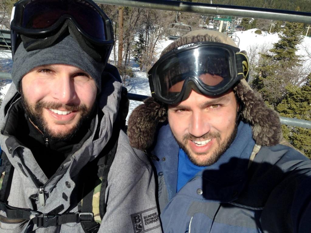 armand and antranik on a ski lift