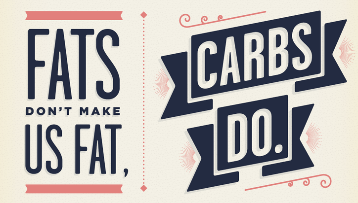 Fat doesn't make us fat, carbs do