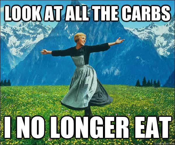 look at all the carbs i dont eat meme