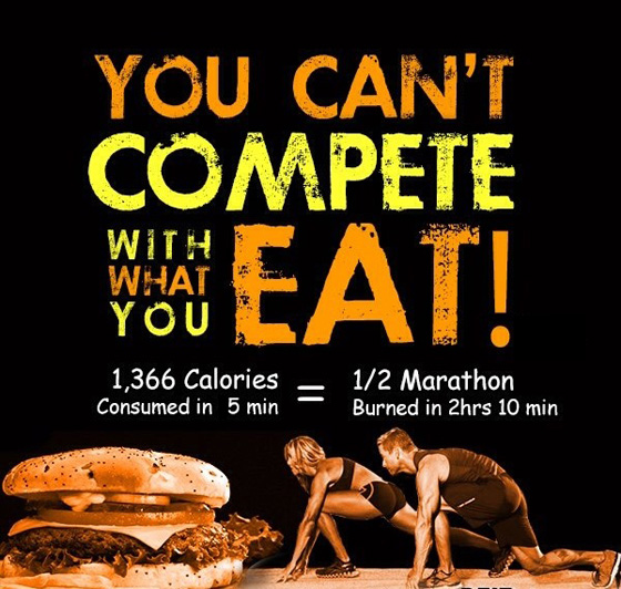 you cant compete with what you eat