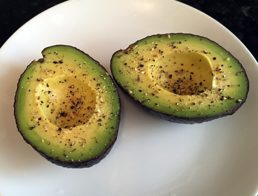 plain avocado with salt and pepper